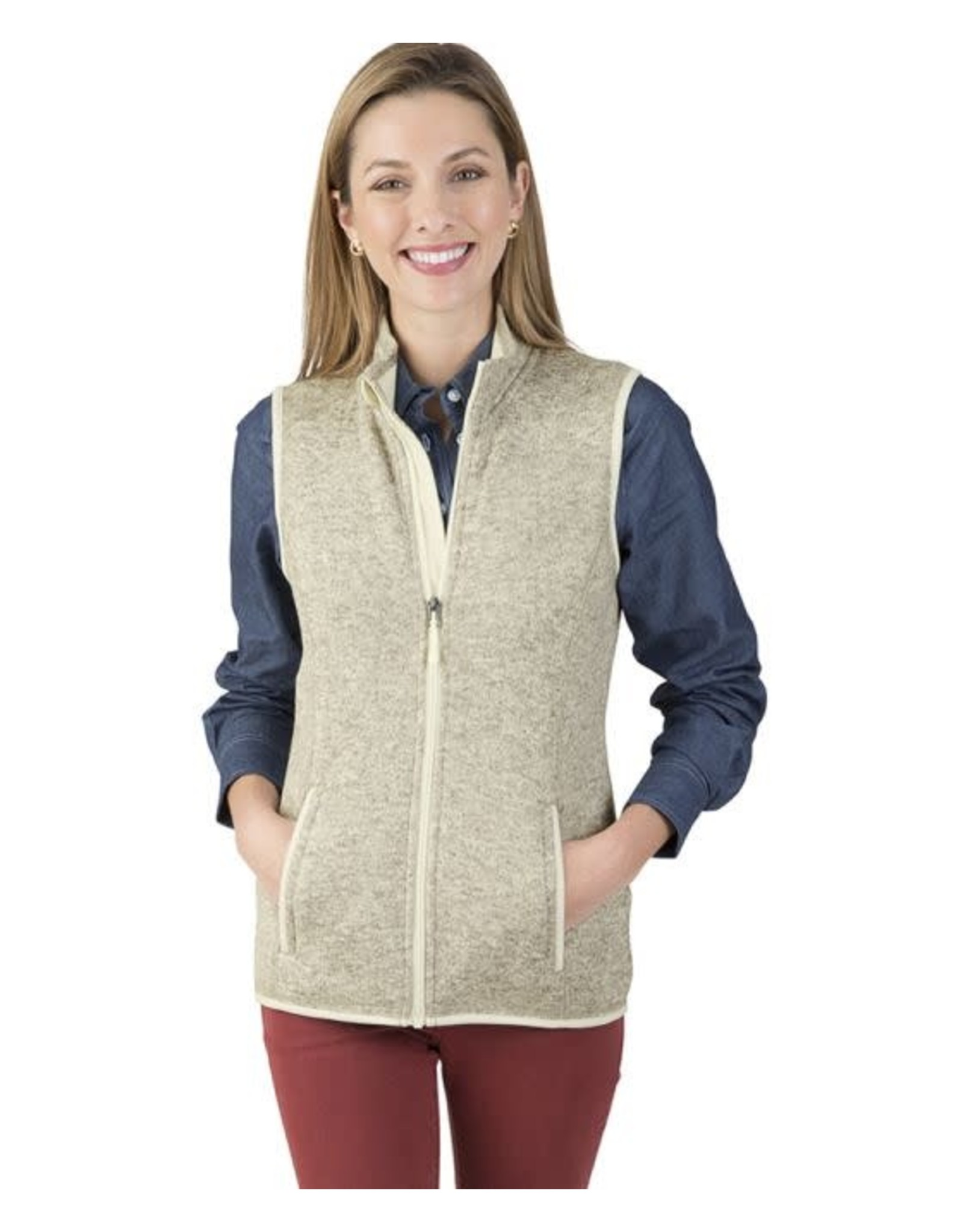 Charles River Apparel W's Heather Vest Oatmeal
