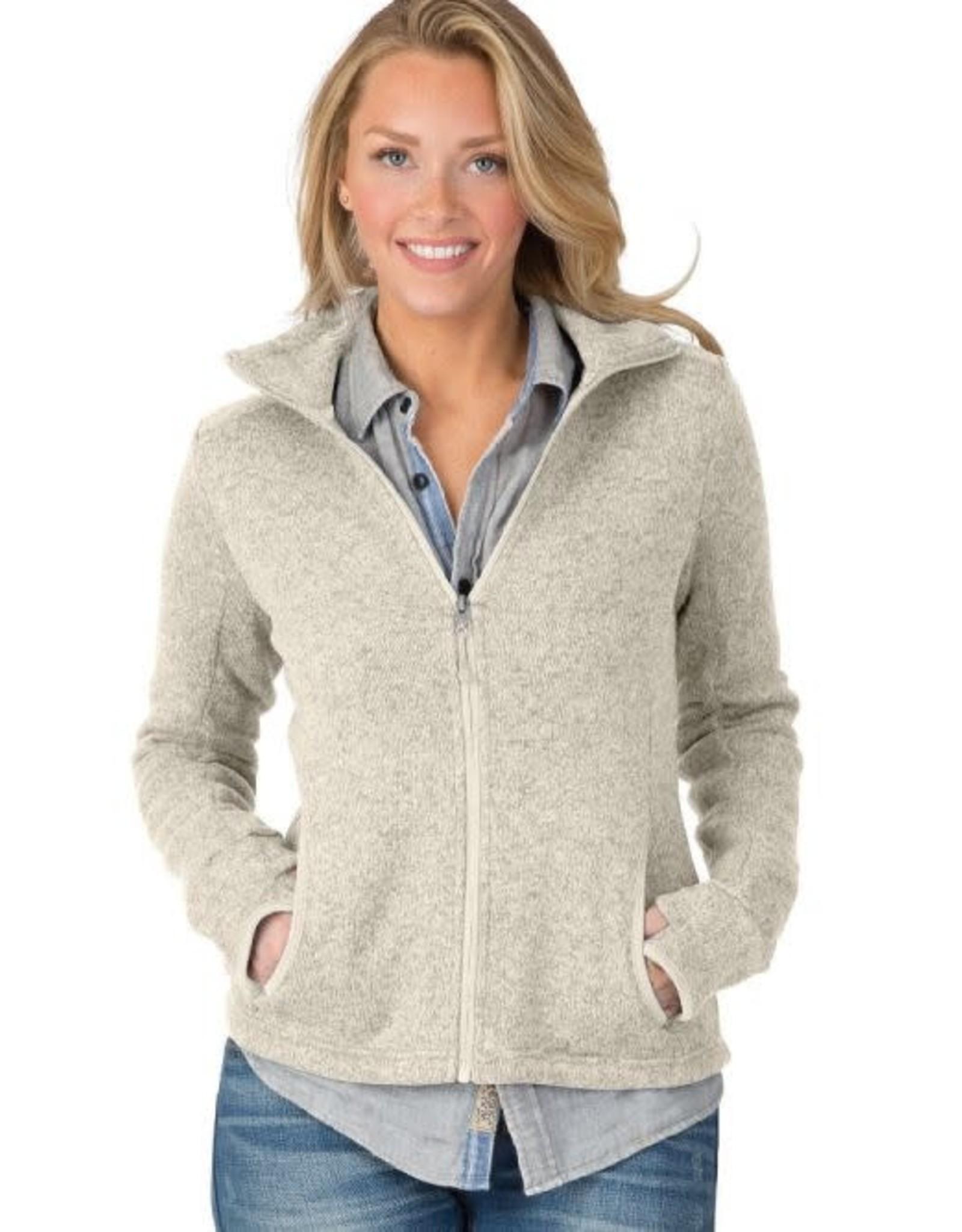Charles River Apparel Women's heathered fleece zip Jacket