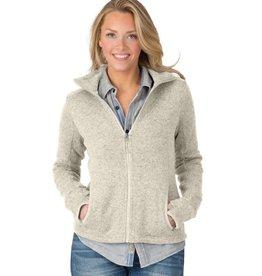 Women's heathered fleece zip Jacket