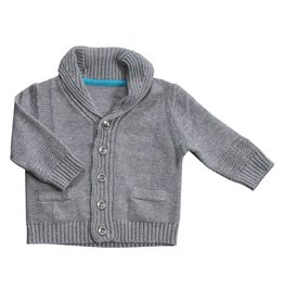 Angel Dear Shawl Collar Cardigan Grey Heather