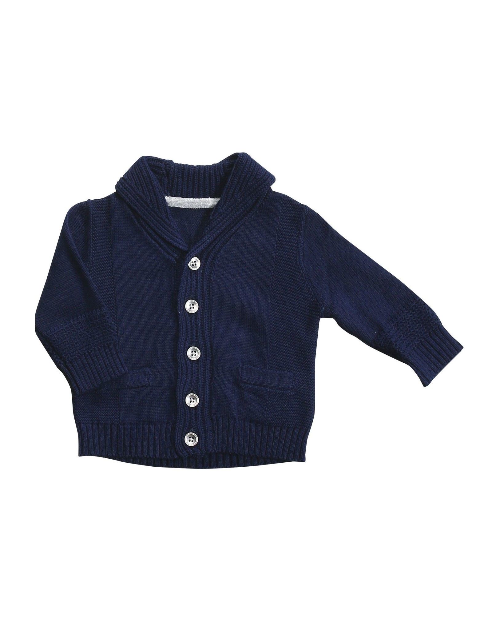 Angel Dear Shawl Collar Cardigan Marine Blue