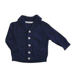 Angel Dear Shawl Collar Cardigan Marine Blue