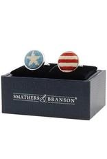 Smather's & Branson Cuff Links Stars & Stripes