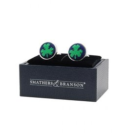 Smather's & Branson Cuff links Shamrock