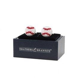 Smather's & Branson Cuff links Baseball