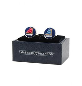 Smather's & Branson Cuff Links Rainbow Fleet
