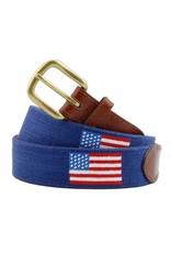 Smather's & Branson Belt American Flag Navy