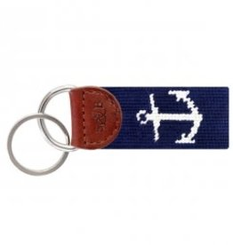Smather's & Branson Key Fob Navy Anchor
