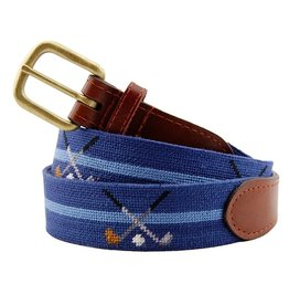Smather's & Branson Belt Crossed Clubs Navy