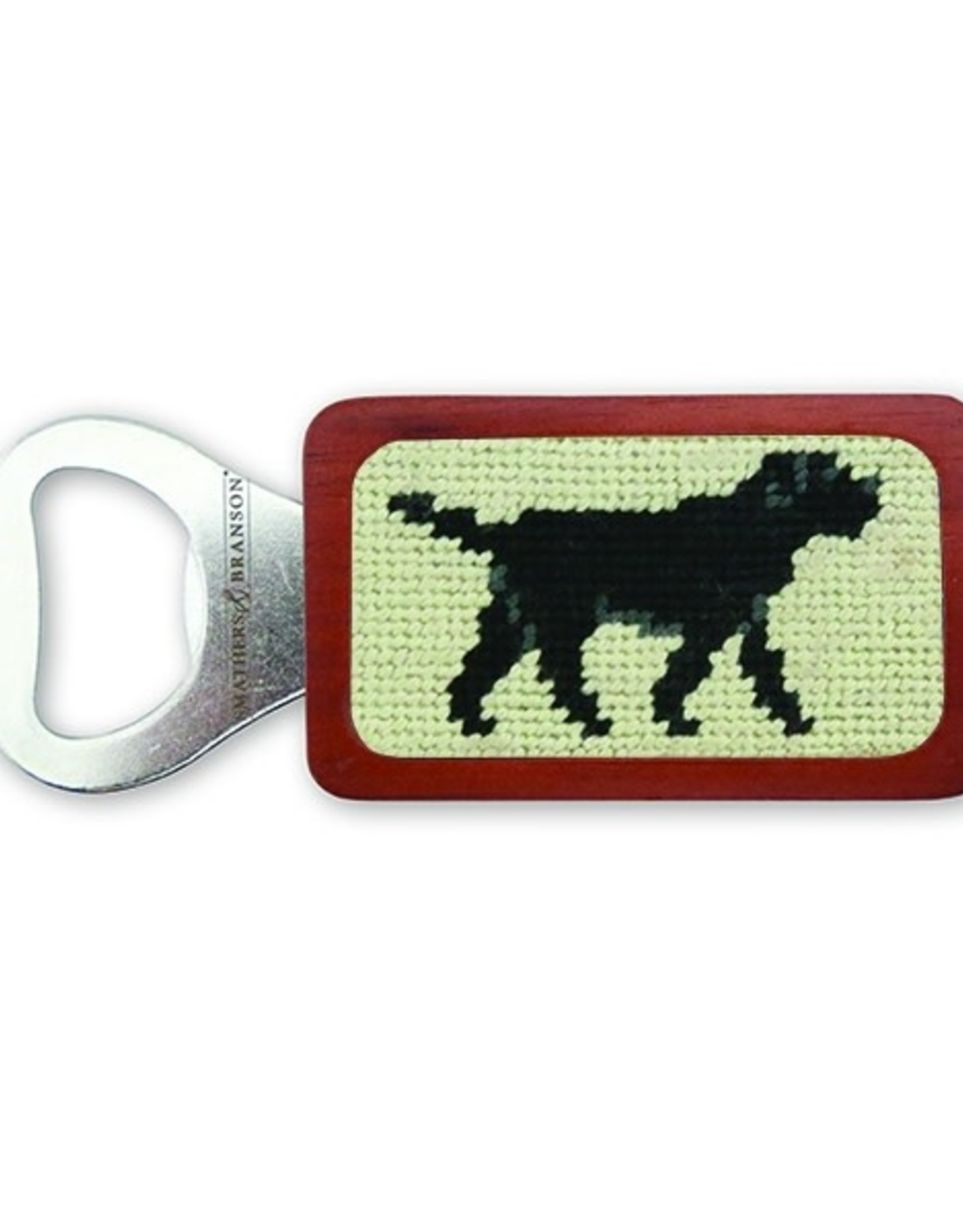 Smather's & Branson Bottle Opener Black Lab