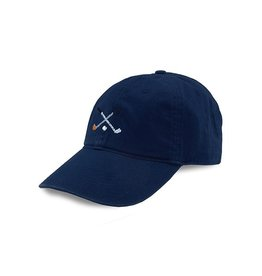 Smather's & Branson Hat Crossed Clubs Performance Navy