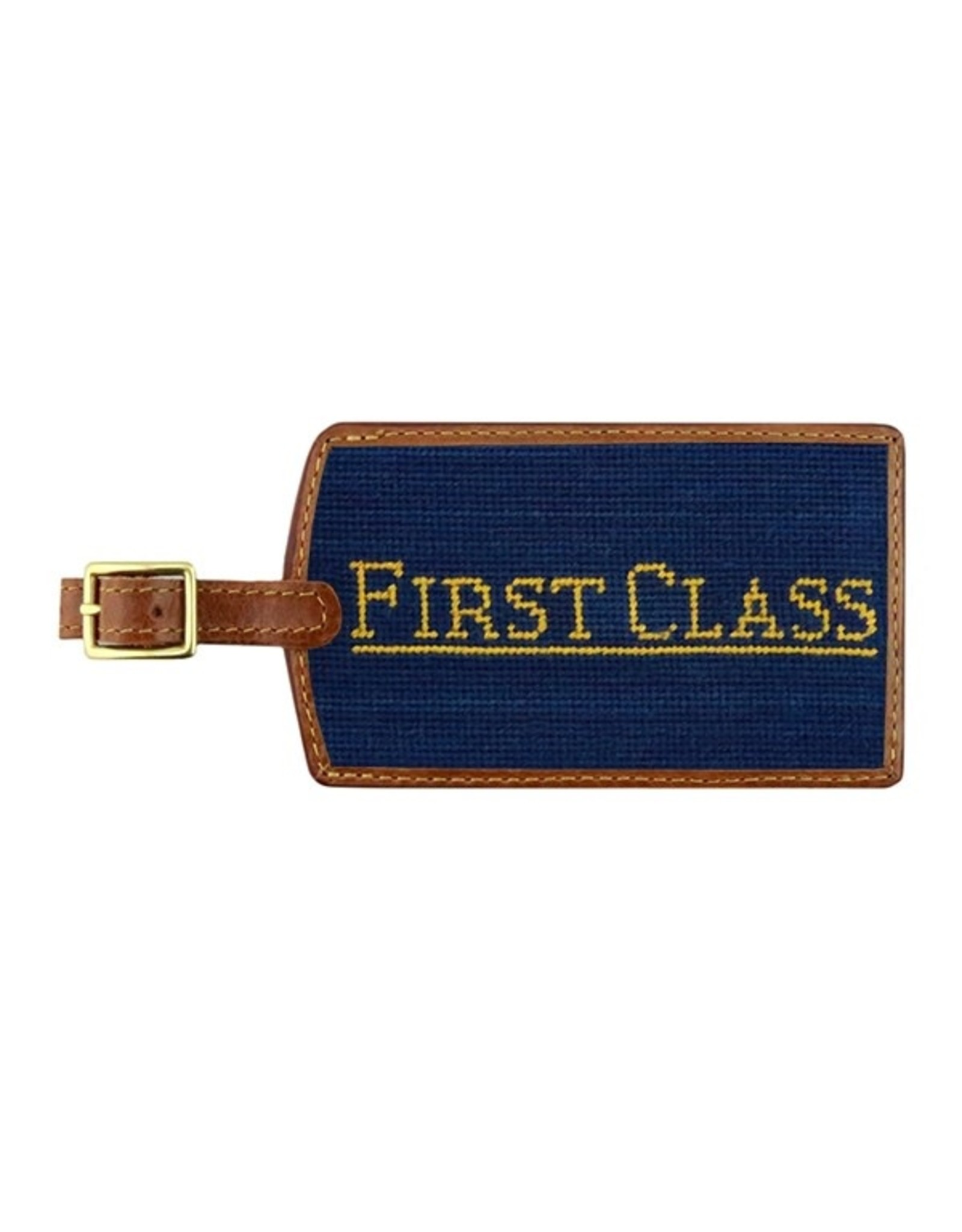 Smather's & Branson Luggage Tag First Class Navy