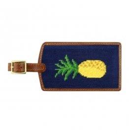Smather's & Branson Luggage Tag Pineapple Dark Navy