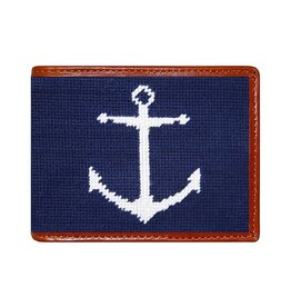 Smather's & Branson Wallet Anchor Navy