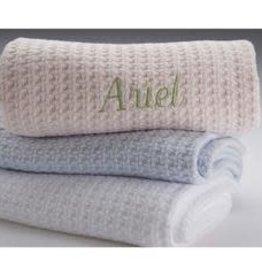 A Soft Idea Basketweave Blanket White