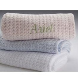 A Soft Idea Basketweave Blanket White