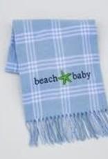 A Soft Idea Blanket 28x36 Windowpane Blue/White