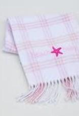 A Soft Idea Blanket 28x36 Windowpane White/Pink