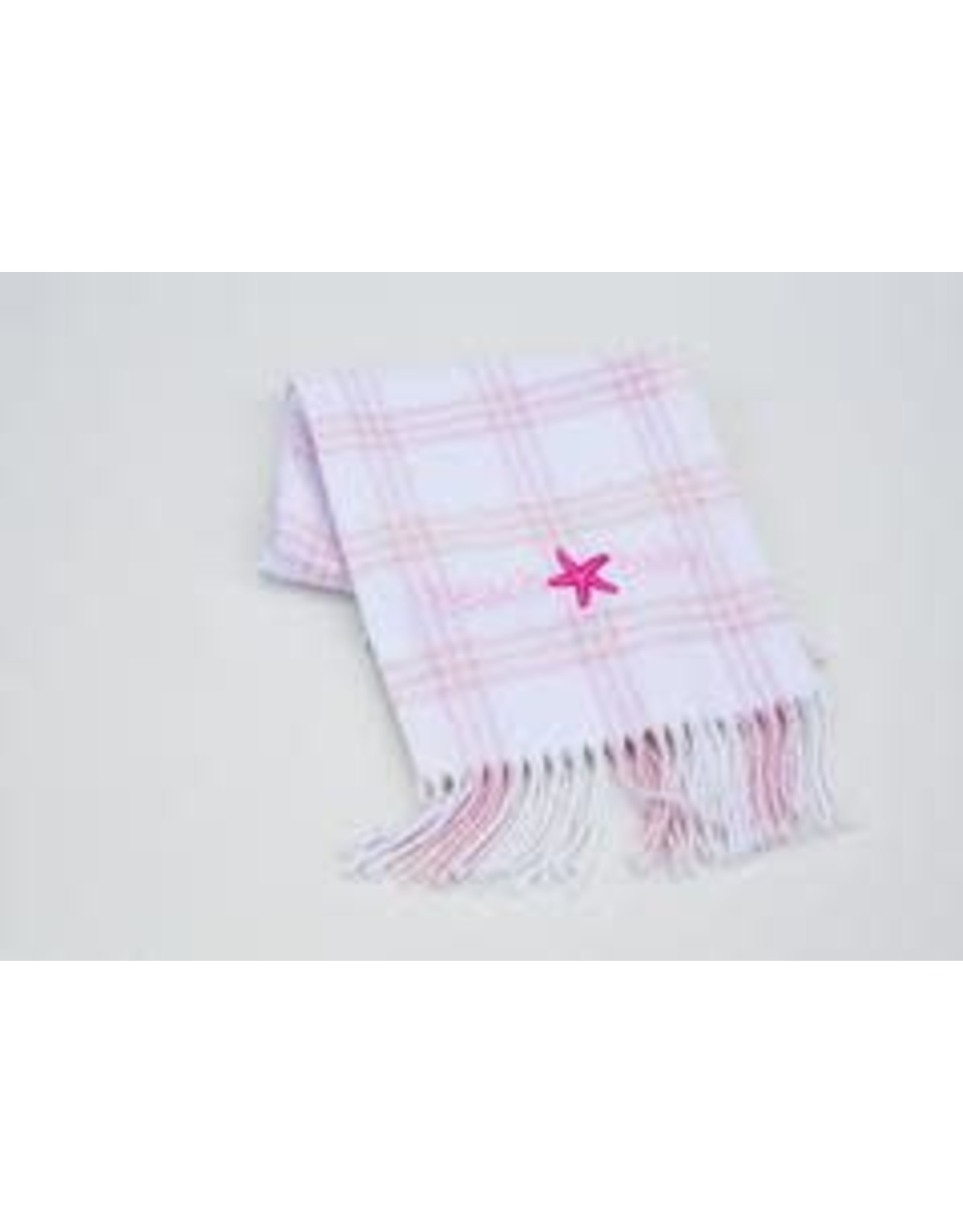 A Soft Idea Blanket 28x36 Windowpane White/Pink
