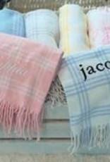 A Soft Idea Blanket 28x36 Windowpane White/Blue