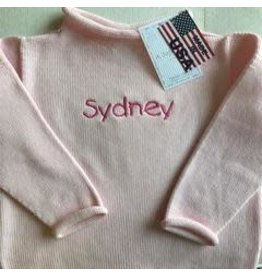 A Soft Idea Sweater Jersey Rollneck  Pink