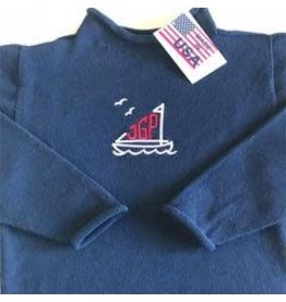 A Soft Idea Sweater Jersey Rollneck  Navy