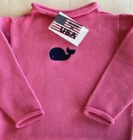 A Soft Idea Sweater Jersey Rollneck  Fuchsia