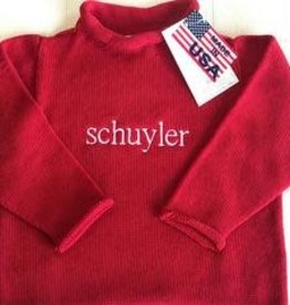 A Soft Idea Sweater Jersey Rollneck  Red