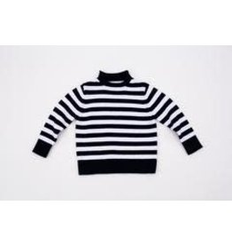 A Soft Idea Sweater Jersey Rollneck  Navy/White