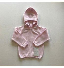 A Soft Idea Zip Back Hoodie Pink
