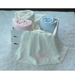 A Soft Idea Single Face Plush Blanket Blue