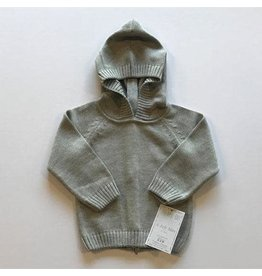 A Soft Idea Sweater Zip Back Grey