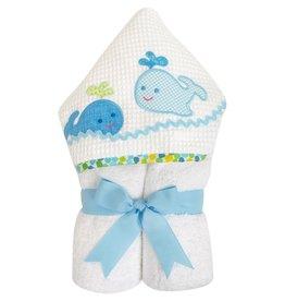 Three Marthas Everykid Towel Blue Whale