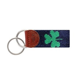 Smather's & Branson Key Fob Shamrock Navy