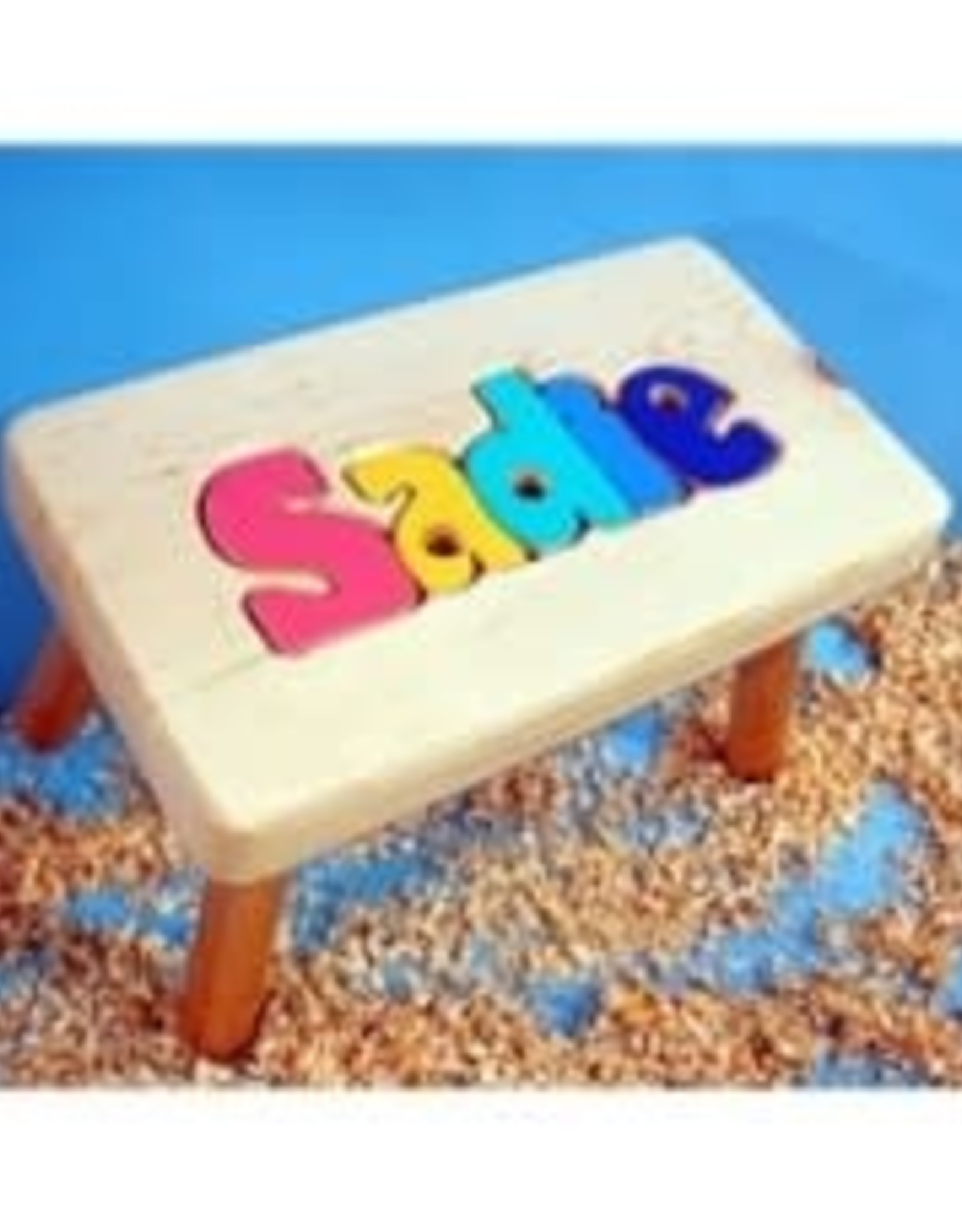 Cubbyhole Toys Natural Name Stool