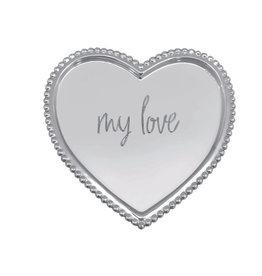 Mariposa Beaded Heart Tray My Love