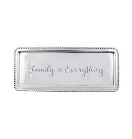 Mariposa Beaded Long tray Family is Everything