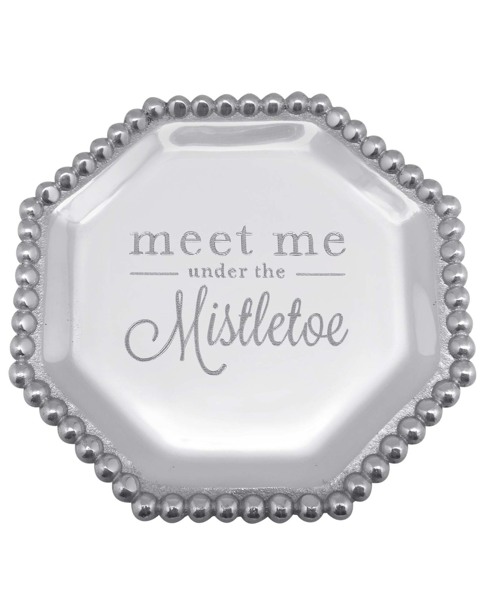 Mariposa Canape Plate Meet Me Under Mistletoe