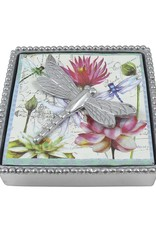 Mariposa Dragonfly Beaded Napkin Box