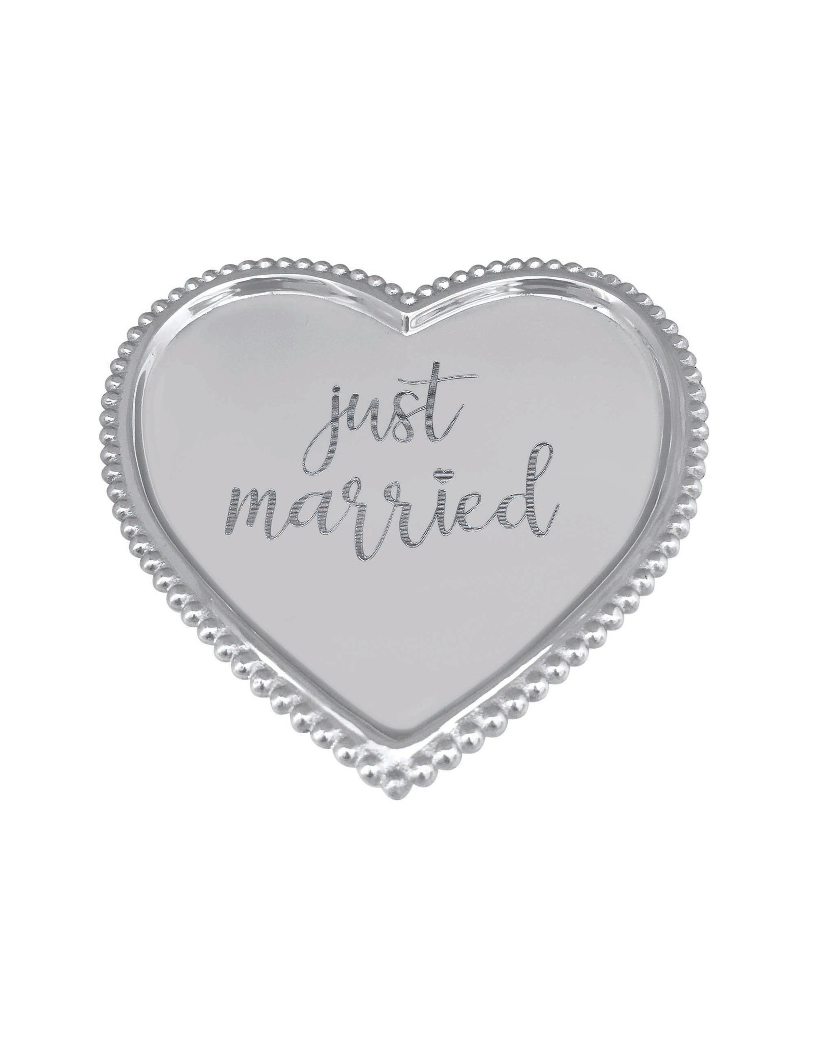 Mariposa Heart Statement Tray Just Married