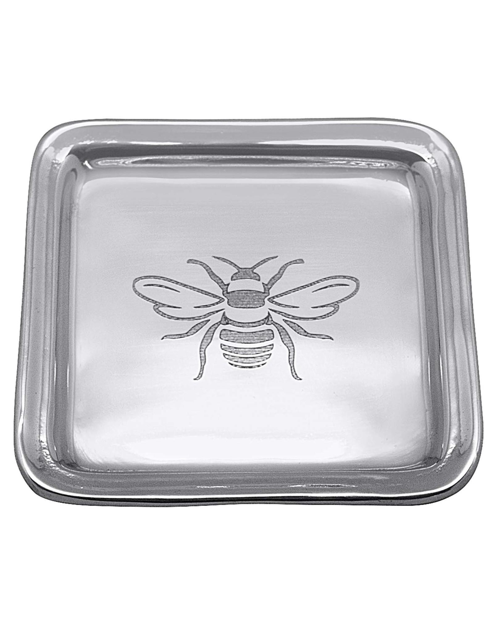 Mariposa Honeybee Beaded Square Tray