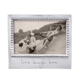 Mariposa Live Laugh Love Beaded 4x6 Frame