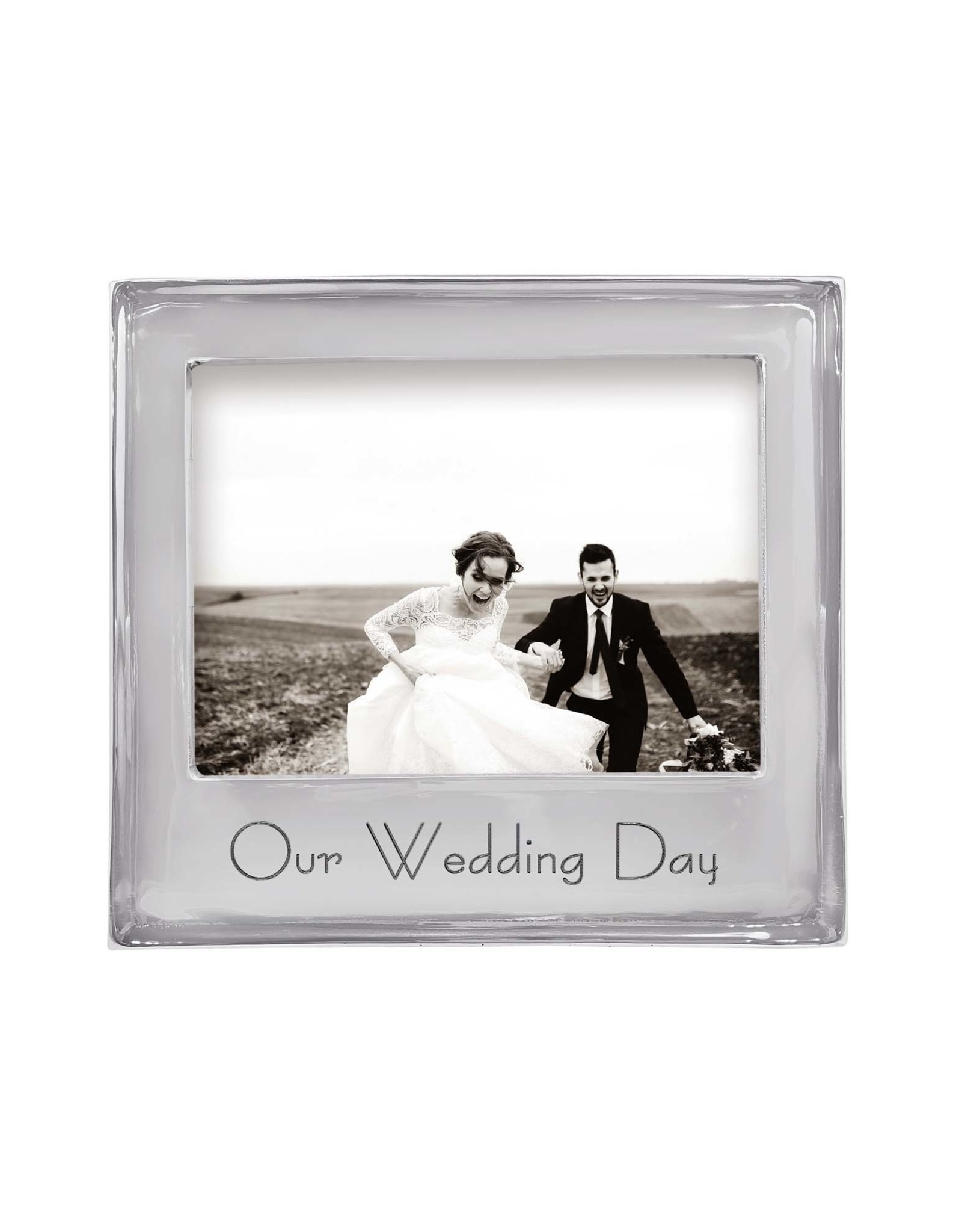Mariposa Our Wedding Day Beaded 5x7 Frame