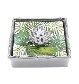 Mariposa Tropical Leaf Napkin Box xx