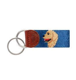 Smather's & Branson Key Fob Golden Retriever Head
