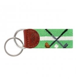 Smather's & Branson Key Fob Mint Crossed Clubs