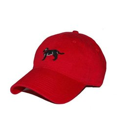 Smather's & Branson Hat Black Lab on Red