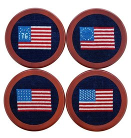 Smather's & Branson Coaster Set American Flags