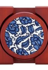 Smather's & Branson Coaster Set Blue Canton