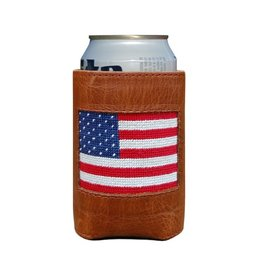 Smather's & Branson Can Cooler American Flag